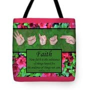 Now Faith Tote Bag by Master's Hand Collection