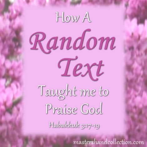 A Random Text Habakkuk 3:17-19