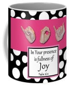 Master's Hand Collection Joy B&W Graphic Coffee Mug