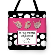 Master's Hand Collection Joy B&W Graphic Tote Bag