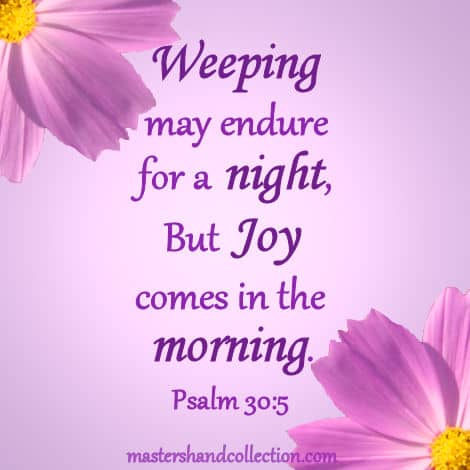 weeping may endure for a night kjv