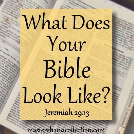 What Does Your Bible Look Like? Jeremiah 29:13