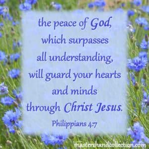 Bible verses about peace Philippians 4:7