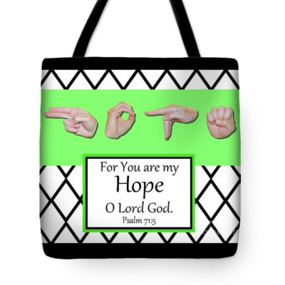 Master's Hand Collection Tote Bag Hope B&W Graphic