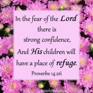 Bible verses about the fear of the Lord Proverbs 14:26