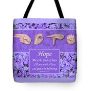 Master's Hand Collection Tote Bag God of Hope