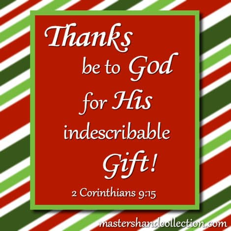 Image for Christmas Bible Verses, Christmas Scriptures, 2 Corinthians 9:15