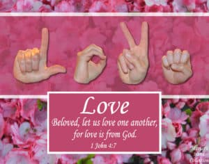 artwork titled Love One Another by Master's Hand Collection