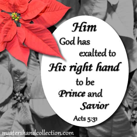 Image for Christmas Bible verses, Christmas Scriptures, Acts 5:31