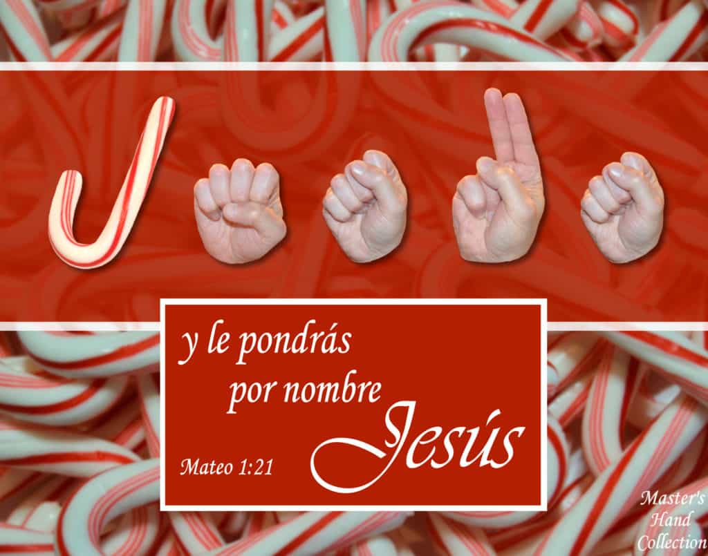 artwork titled Call His Name Jesus Spanish by Master's Hand Collection
