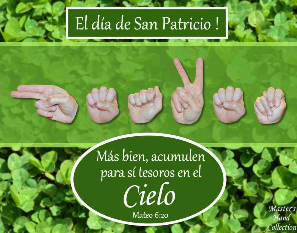 artwork titled Heaven St. Patrick's Day Spanish by Master's Hand Collection