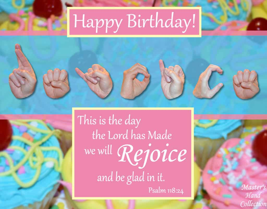 artwork titled Rejoice and Be Glad (Birthday) by Master's Hand Collection