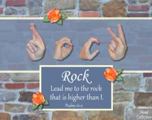 artwork titled Rock That is Higher by Master's Hand Collection