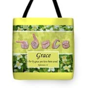 By Grace tote bag by Master's Hand Collection