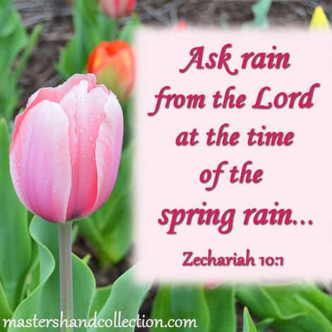 Spring Bible Verses, Ask rain from the Lord, Zechariah 10:1