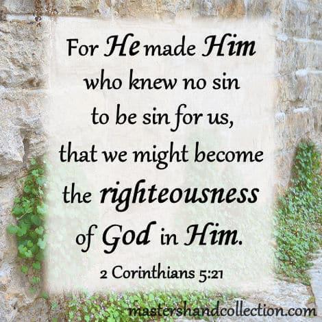 Bible Verses about Jesus, 2 Corinthians 5:21