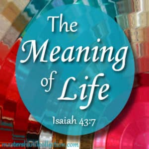 The Meaning of Life Isaiah 43:7
