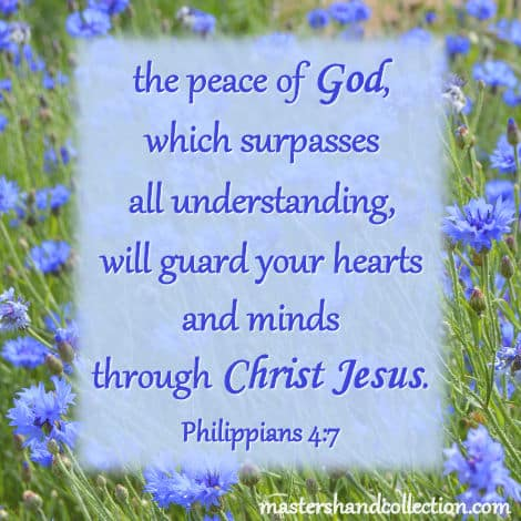 Bible verses about peace Philippians 4:7