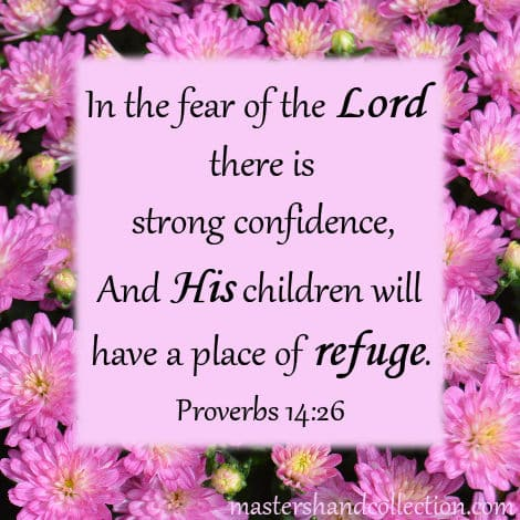 Bible verses for Fall Proverbs 14:26