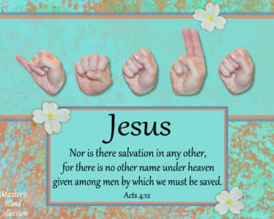 Christian art titled Jesus No Other Name by Master's Hand Collection