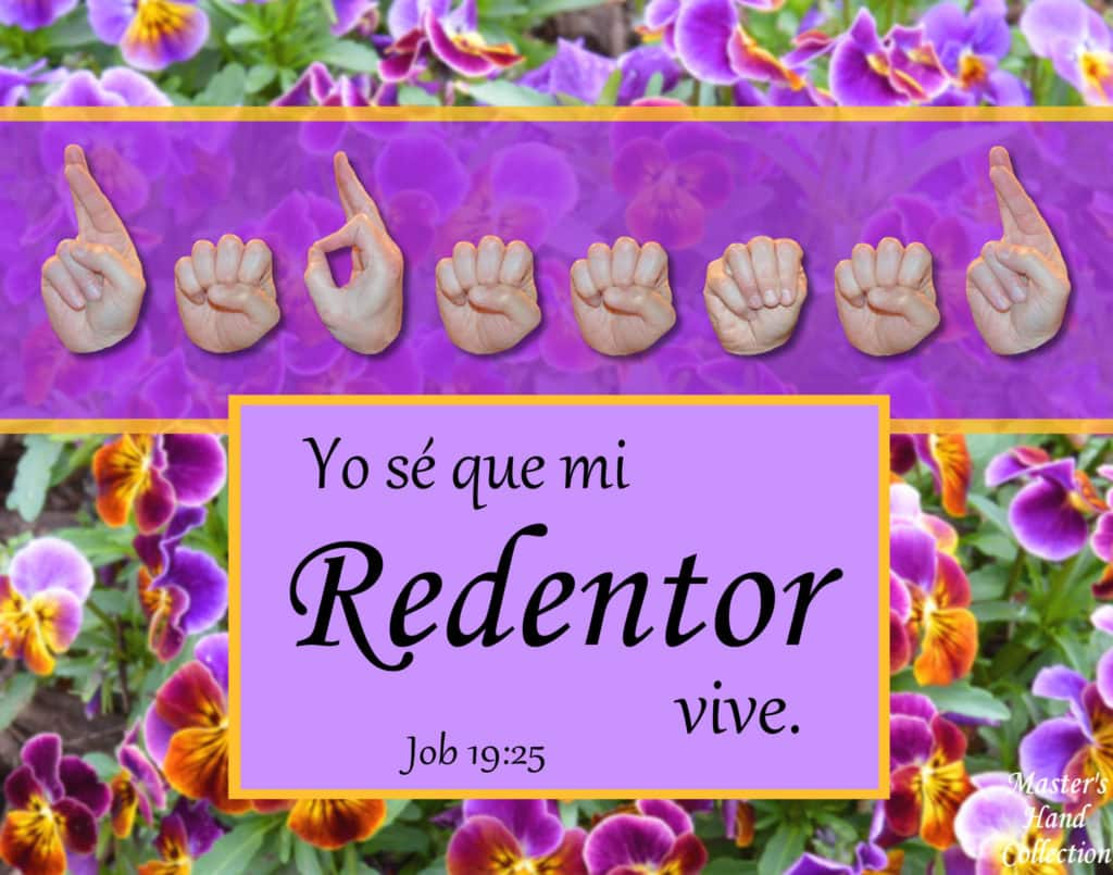 artwork titled My Redeemer Lives Spanish by Master's Hand Collection