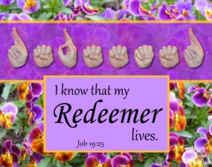 artwork titled My Redeemer Lives by Master's Hand Collection