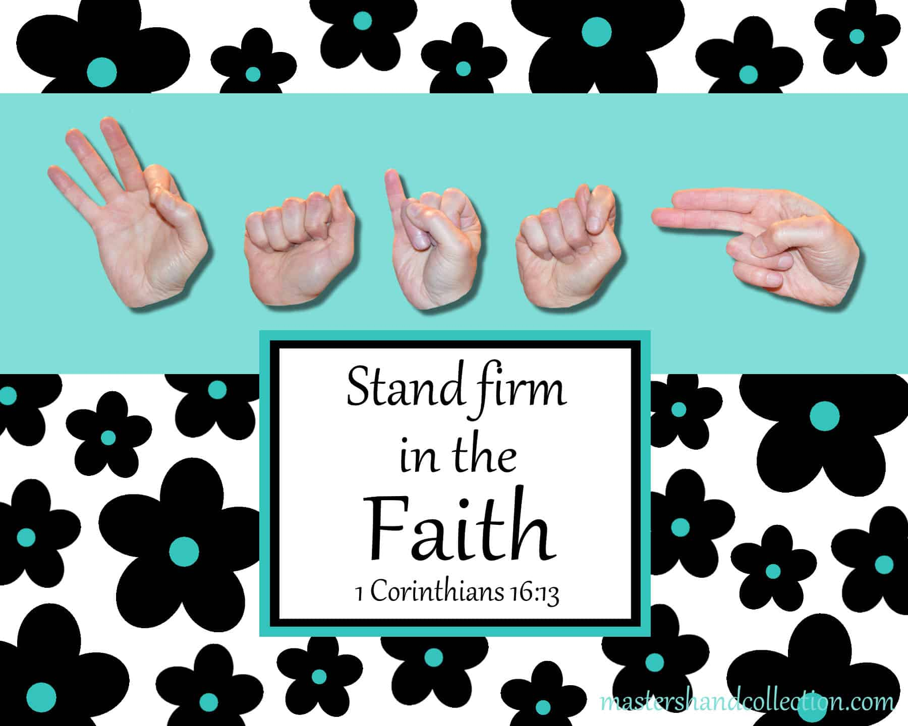 artwork titled Faith B&W Graphic by Master's Hand Collection