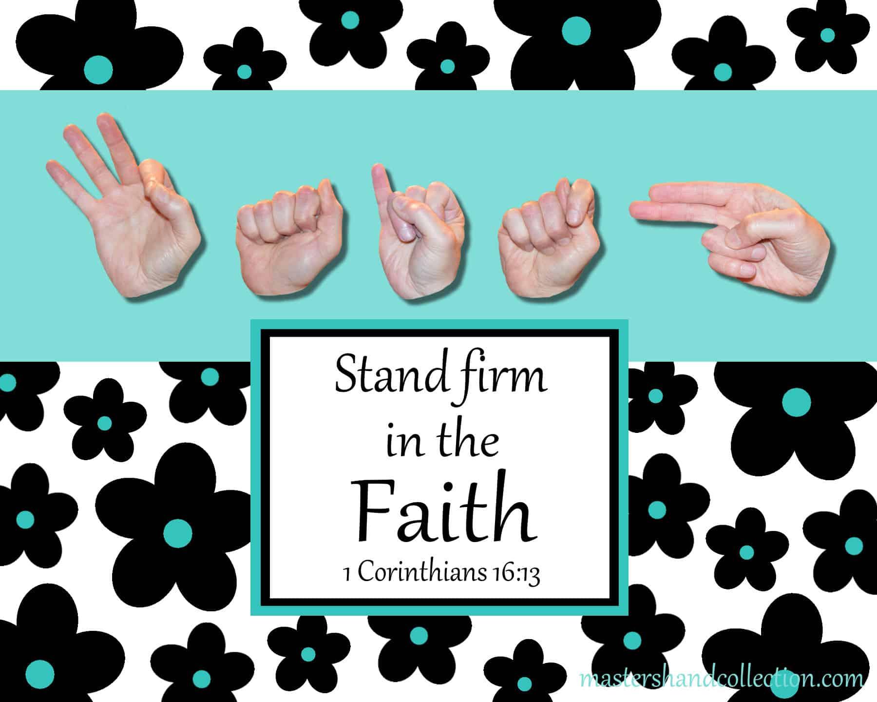 Faith Black and White Bible Verse Art