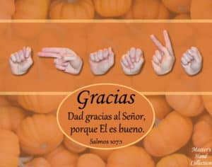 artwork titled Give Thanks Spanish by Master's Hand Collection