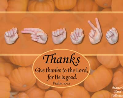 Christian Art titled Give Thanks by Master's Hand Collection