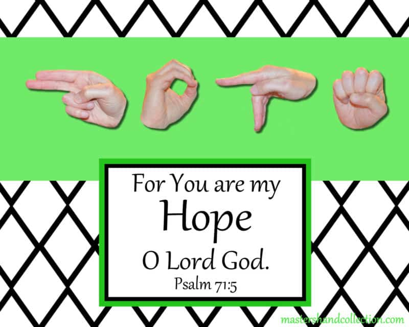 artwork titled Hope B&W Graphic by Master's Hand Collection