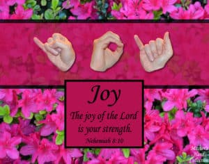 Joy of the Lord Printable Art