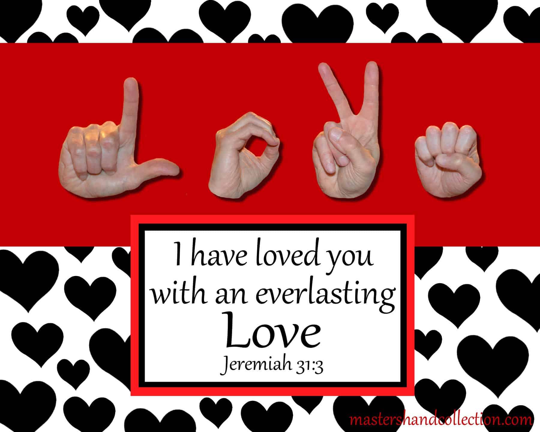 Love Black and White Bible Verse Art