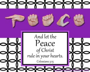 Peace Black and White Bible Verse Art