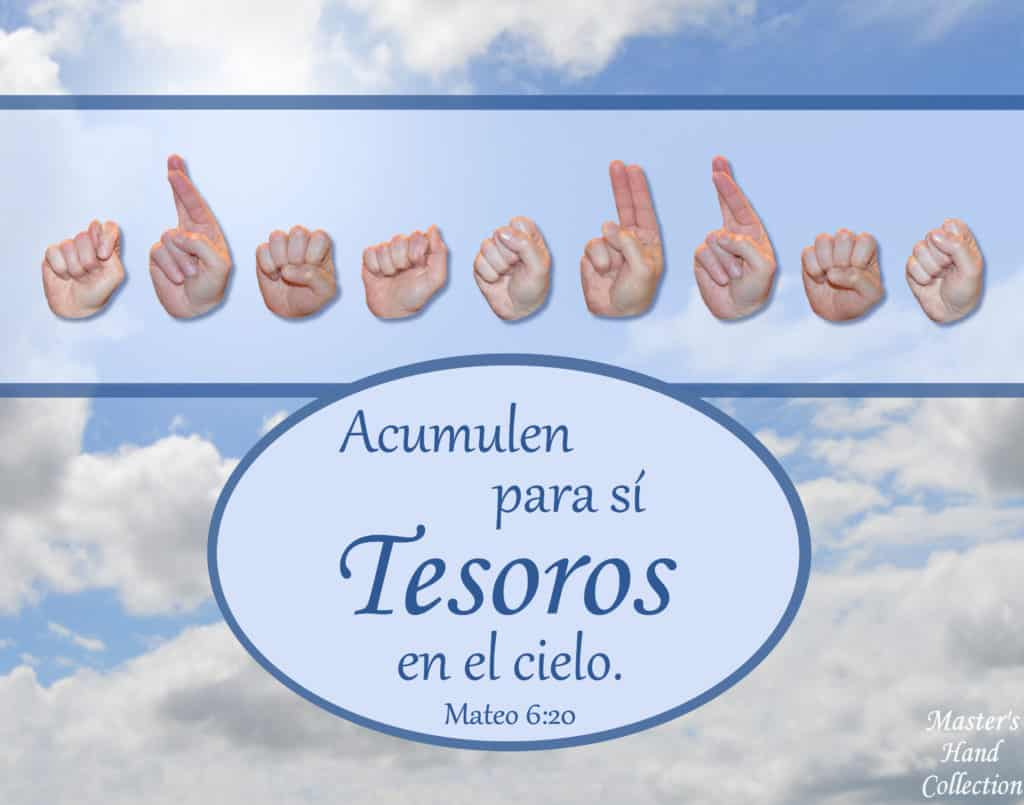 artwork titled Treasures In Heaven Spanish by Master's Hand Collection