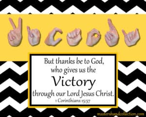 Victory Black and White Bible Verse Art