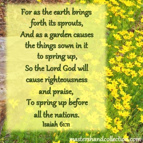 Spring Bible Verses Isaiah 61:11
