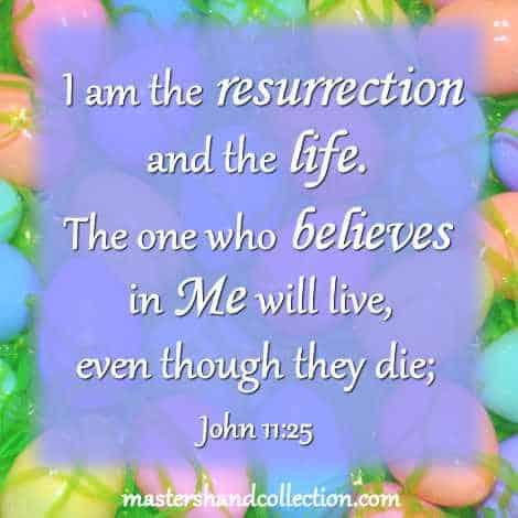 Bible Verse for Easter John 11:25