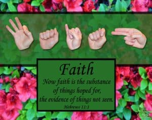 Now Faith Printable Art by Master's Hand Collection