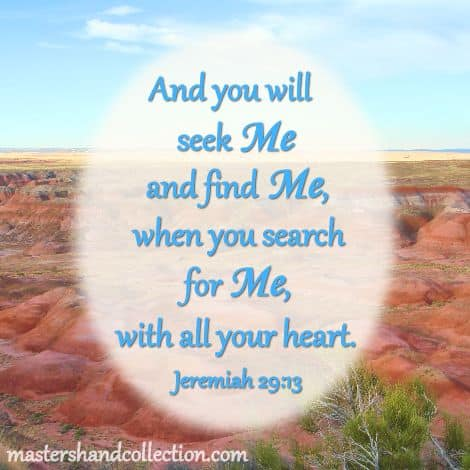 Seek Me and find Me Jeremiah 29:13