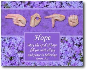 artwork God of Hope by Master's Hand Collection
