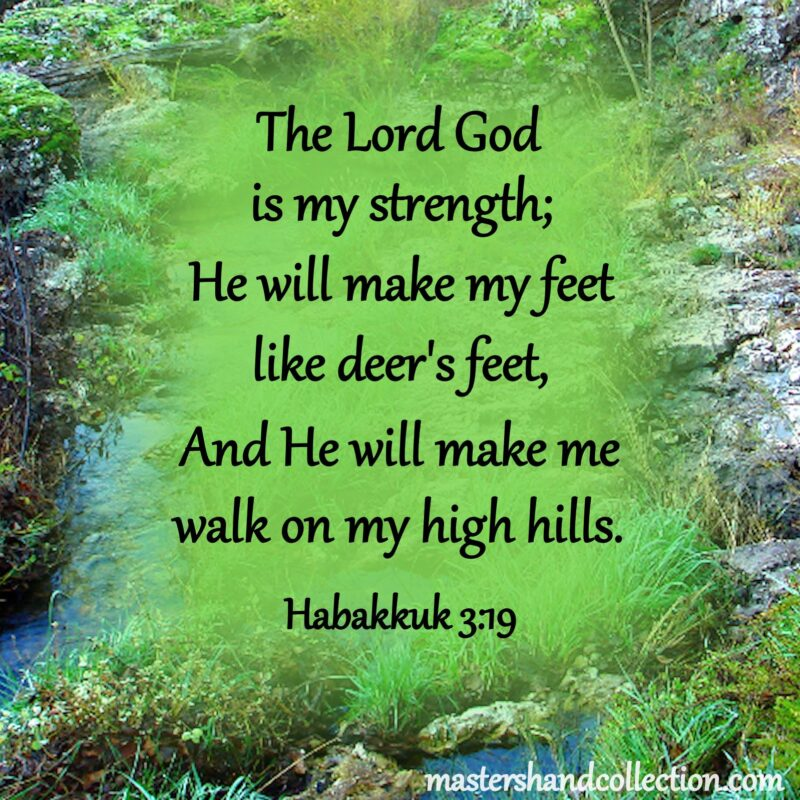 Free Printable Bible Verse Wall Art Habakkuk 3:19