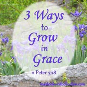 3 Ways to Grow in Grace