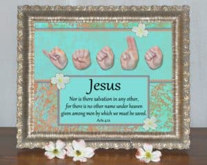 artwork titled Jesus No Other Name by Master's Hand Collection