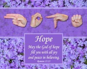 God of Hope Printable Art