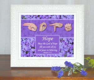 God of Hope Printable Art by Master's Hand Collection