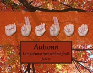 Christian Art titled Autumn by Master's Hand Collection