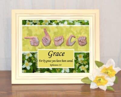 By Grace Printable Art