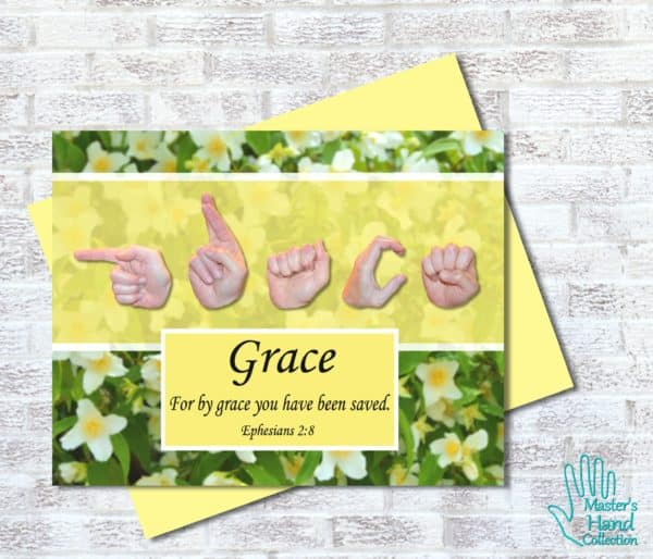 By Grace Printable Card