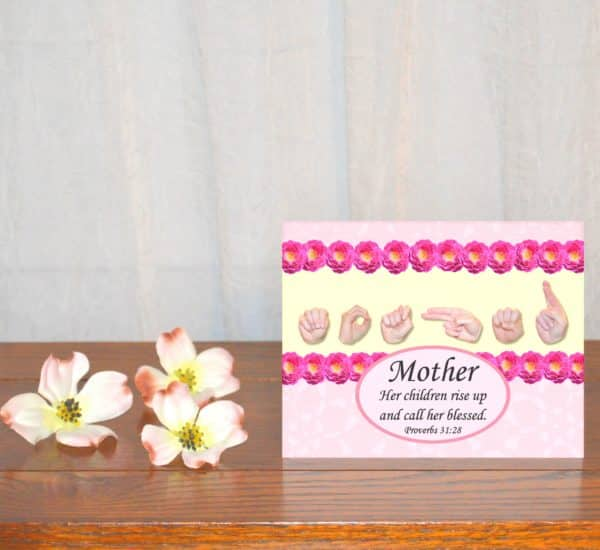 """Printable Mother's Day Card """"Call Her Blessed"""""""